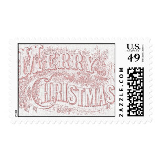 Ornate Merry Christmas Postage Stamps