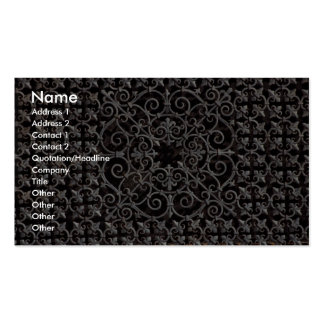 Ornate metal grate Double-Sided standard business cards (Pack of 100)