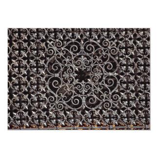Ornate metal grate invite