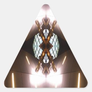 Ornate Metallica - Urban Futurism CricketDiane Triangle Sticker