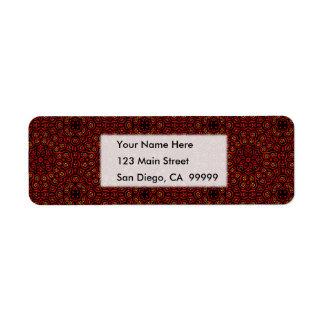 Ornate Middle Eastern Medallion 4 Label
