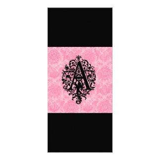 Ornate Monogram A Rack Card