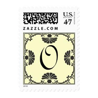 Ornate Monogram Letter O Ivory Stamp
