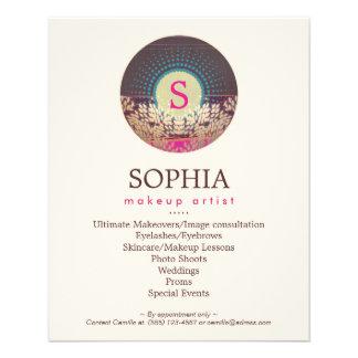 Ornate Monogram Makeup Artist and Hair Stylist Flyer