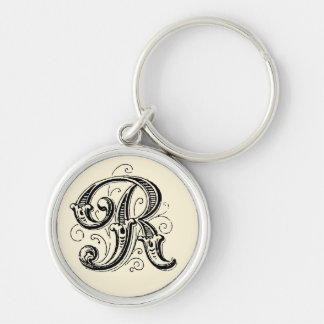 Ornate Monogram 'R' - Keychain
