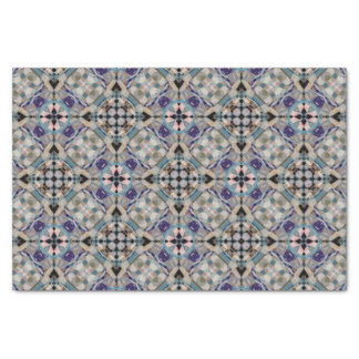 Ornate Mosaic Stained Glass Window Pastel Colors Tissue Paper