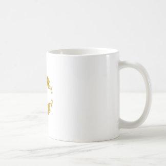 ORNATE OAK LEAVES NAMEDROP COFFEE MUG