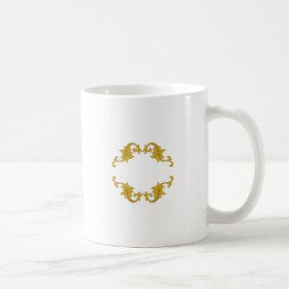 ORNATE OAK LEAVES NAMEDROP COFFEE MUGS