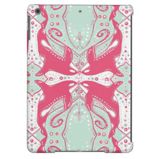 ornate orcas killer whale iPad Air cover pink mint