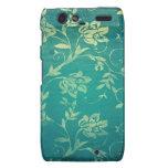 ornate oriental flower pattern motorola droid RAZR case