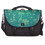 ornate oriental flower pattern laptop bag