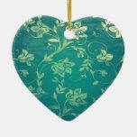 ornate oriental flower pattern ornaments