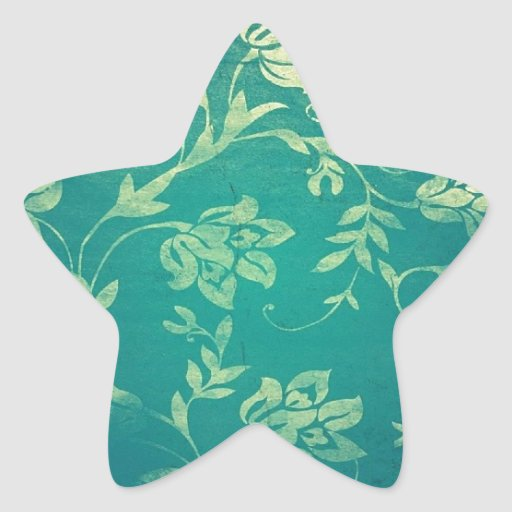 ornate oriental flower pattern star sticker