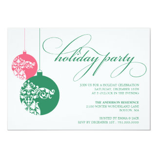 ORNATE ORNAMENTS | HOLIDAY PARTY INVITES