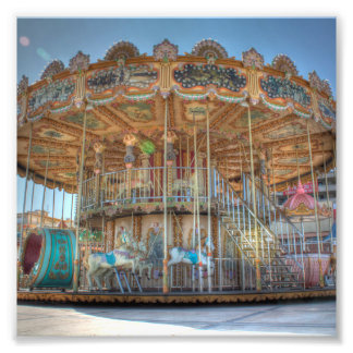 Ornate Outdoor Carousel Photo Print