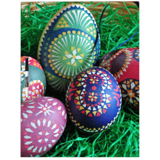 Ornate Painted Easter Eggs Dry Erase Whiteboard