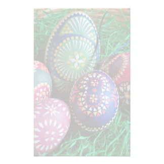 Ornate Painted Easter Eggs Stationery