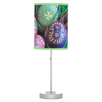 Ornate Painted Easter Eggs Table Lamp