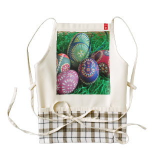 Ornate Painted Easter Eggs Zazzle HEART Apron
