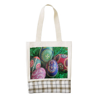 Ornate Painted Easter Eggs Zazzle HEART Tote Bag