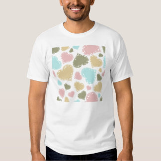Ornate Pastel Hearts Design T-Shirt