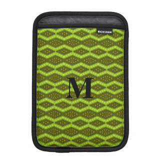 Ornate Pattern in Lime and Olive w/Curry Accents iPad Mini Sleeve
