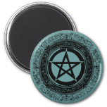 Ornate Pentacle 2 Inch Round Magnet