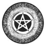 Ornate Pentacle Classic Round Sticker