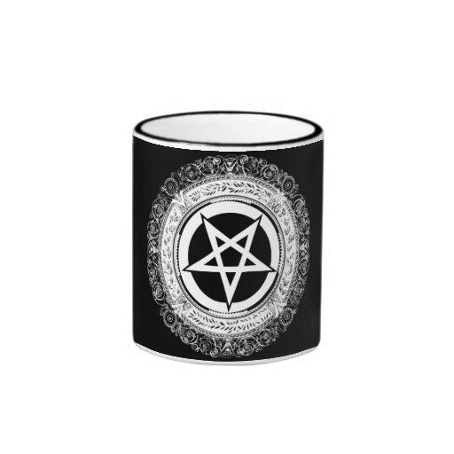 Ornate Pentagram Ringer Coffee Mug