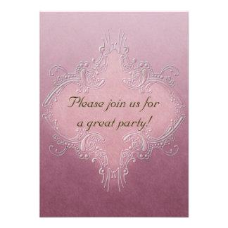 Ornate Pink Invitation