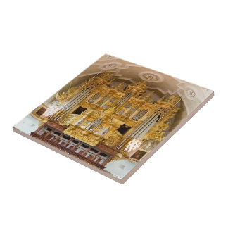 Ornate pipe organ tile
