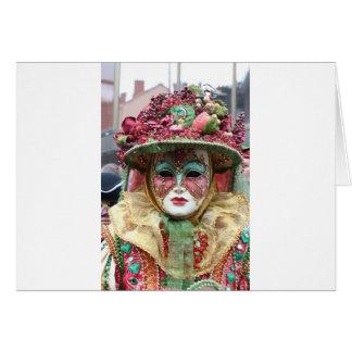 Ornate Porcelain Chinese Mask Card