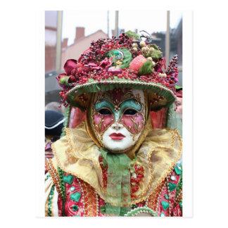Ornate Porcelain Chinese Mask Postcard