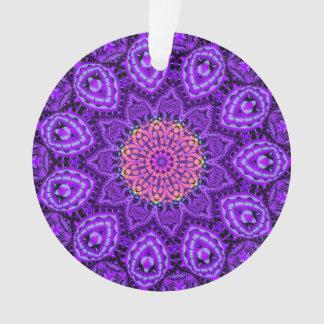 Ornate Purple Flower Vibrations Kaleidoscope Art