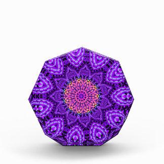 Ornate Purple Flower Vibrations Kaleidoscope Art Acrylic Award