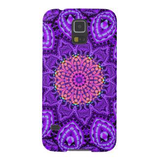 Ornate Purple Flower Vibrations Kaleidoscope Art Cases For Galaxy S5