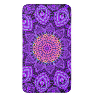 Ornate Purple Flower Vibrations Kaleidoscope Art Galaxy S5 Pouch