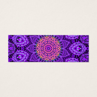 Ornate Purple Flower Vibrations Kaleidoscope Art Mini Business Card