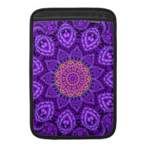 Ornate Purple Flower Vibrations Kaleidoscope Art Sleeve For MacBook Air
