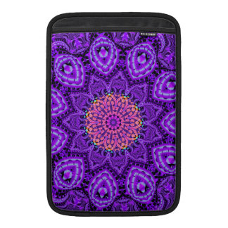 Ornate Purple Flower Vibrations Kaleidoscope Art Sleeve For MacBook Air
