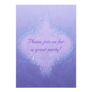 Ornate Purple Invitation