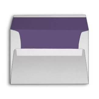Ornate Purple Silver Floral Swirls 5x7 Envelope