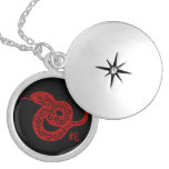 Ornate Red Chinese Snake Pendant