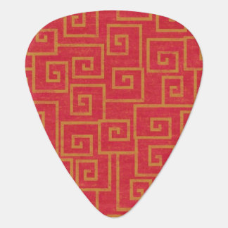 Ornate Red Guitar Pick