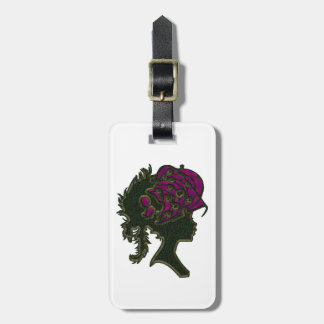 Ornate Red Hat Cameo Luggage Tag