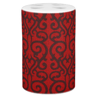 Ornate red oil bath sets