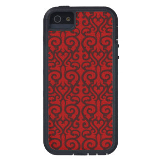 Ornate red oil case for iPhone SE/5/5s