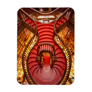 Ornate red stairway, Portugal Magnet
