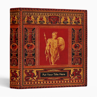 Ornate Roman Soldier Book Cover Binder
