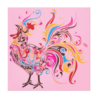 Ornate Rooster Canvas Print